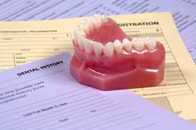 Dentures on top of forms